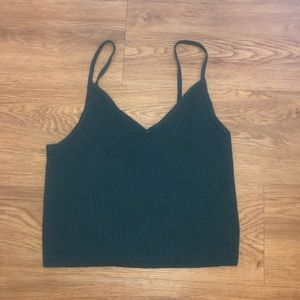 PacSun Forest Green Cropped Sweater Tank